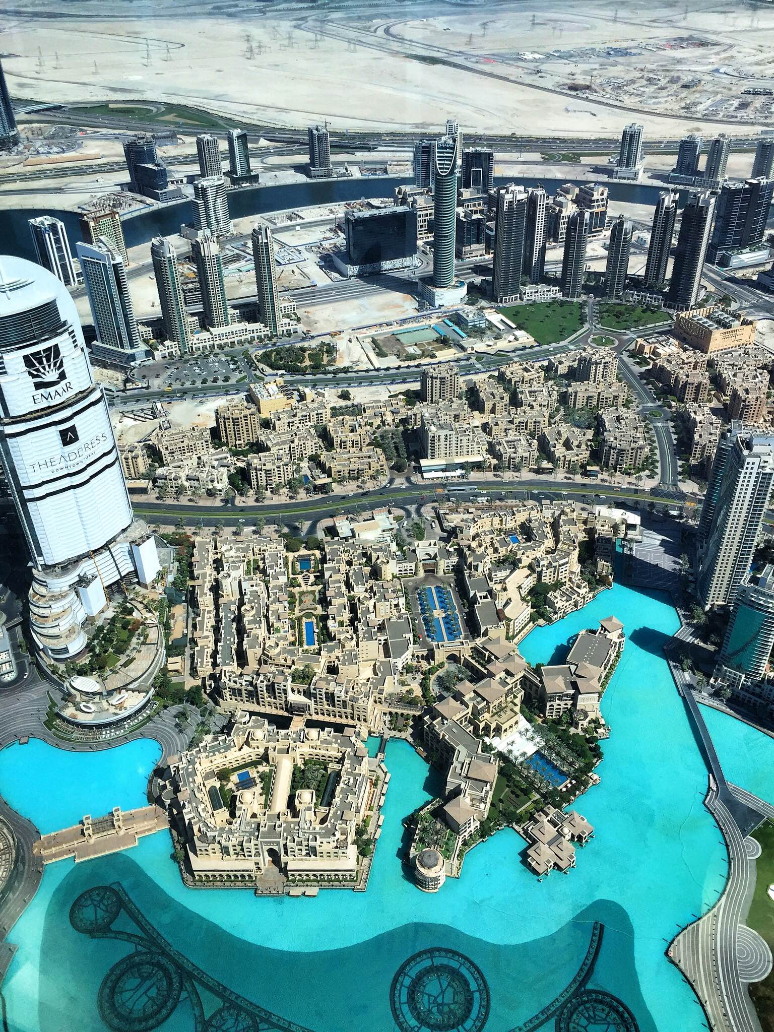 view from the top of the Burj Khalifa in Dubai 2