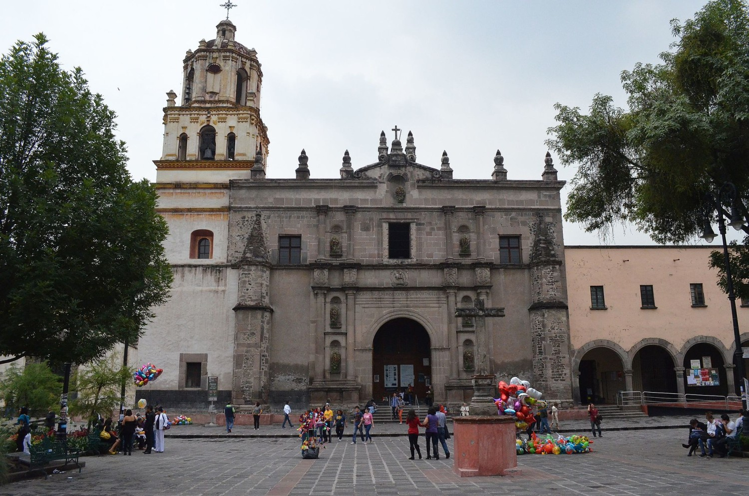 church in the main plaza in the best neighborhood in Mexico City Coyoacan