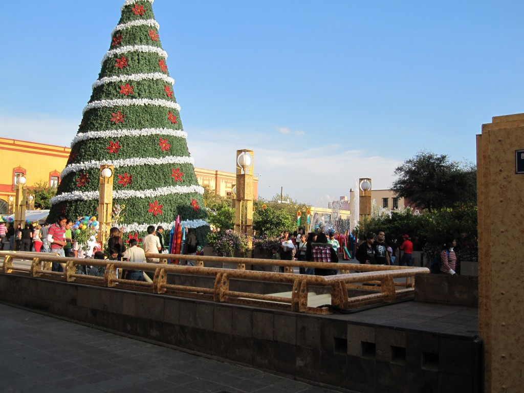 Christmas decorations in Queretaro