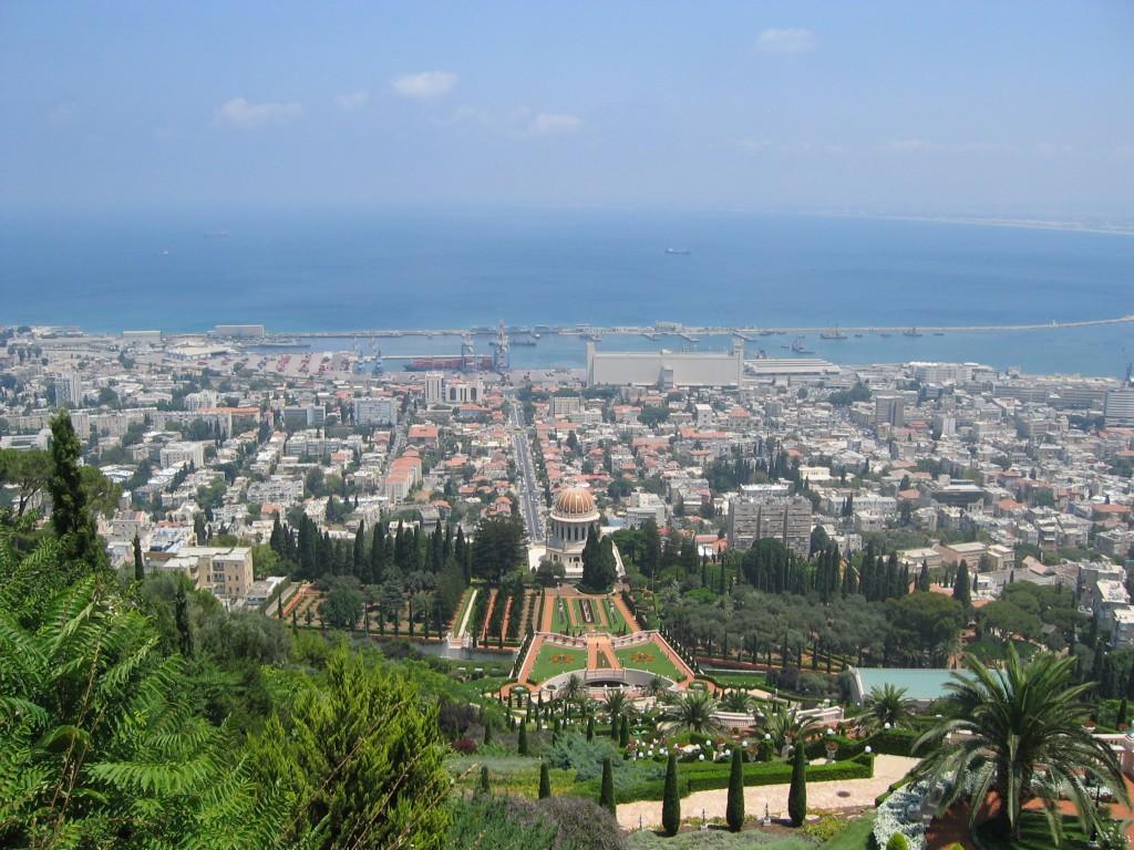 View from the The Bahá'í Gardens in Haifa
