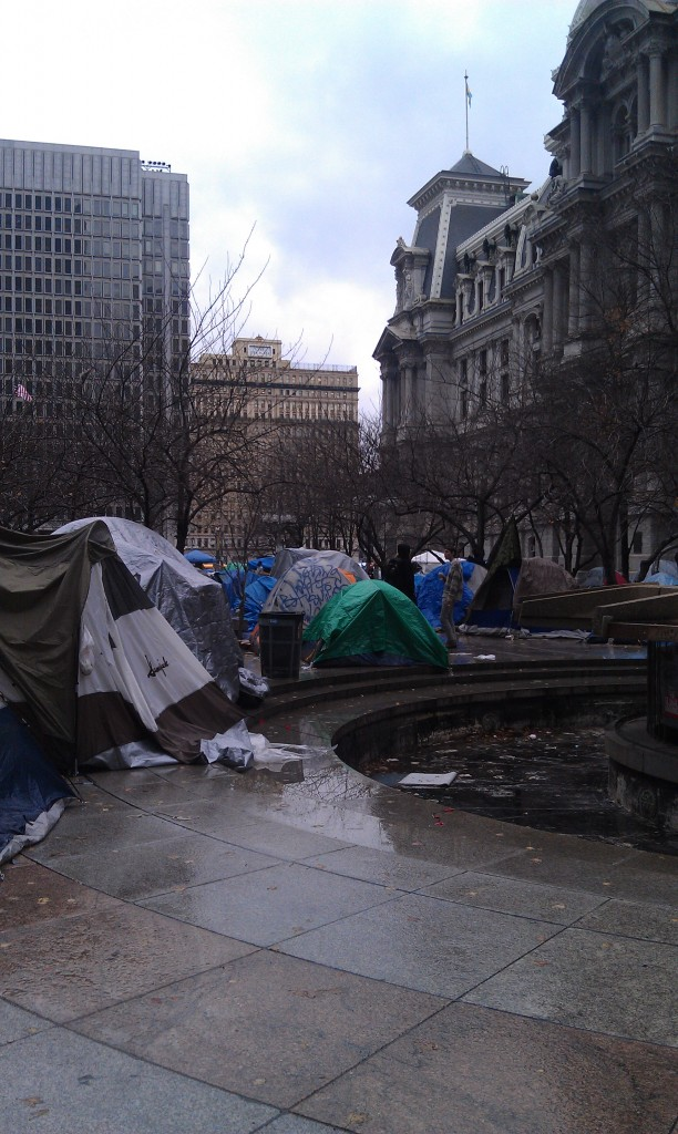 occupy philadelphia is unsanitary