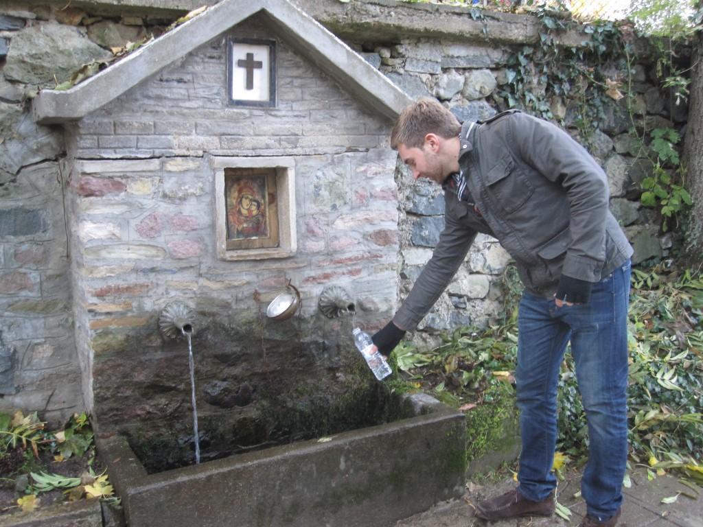 The natural spring at Dragalevtsi Monastery