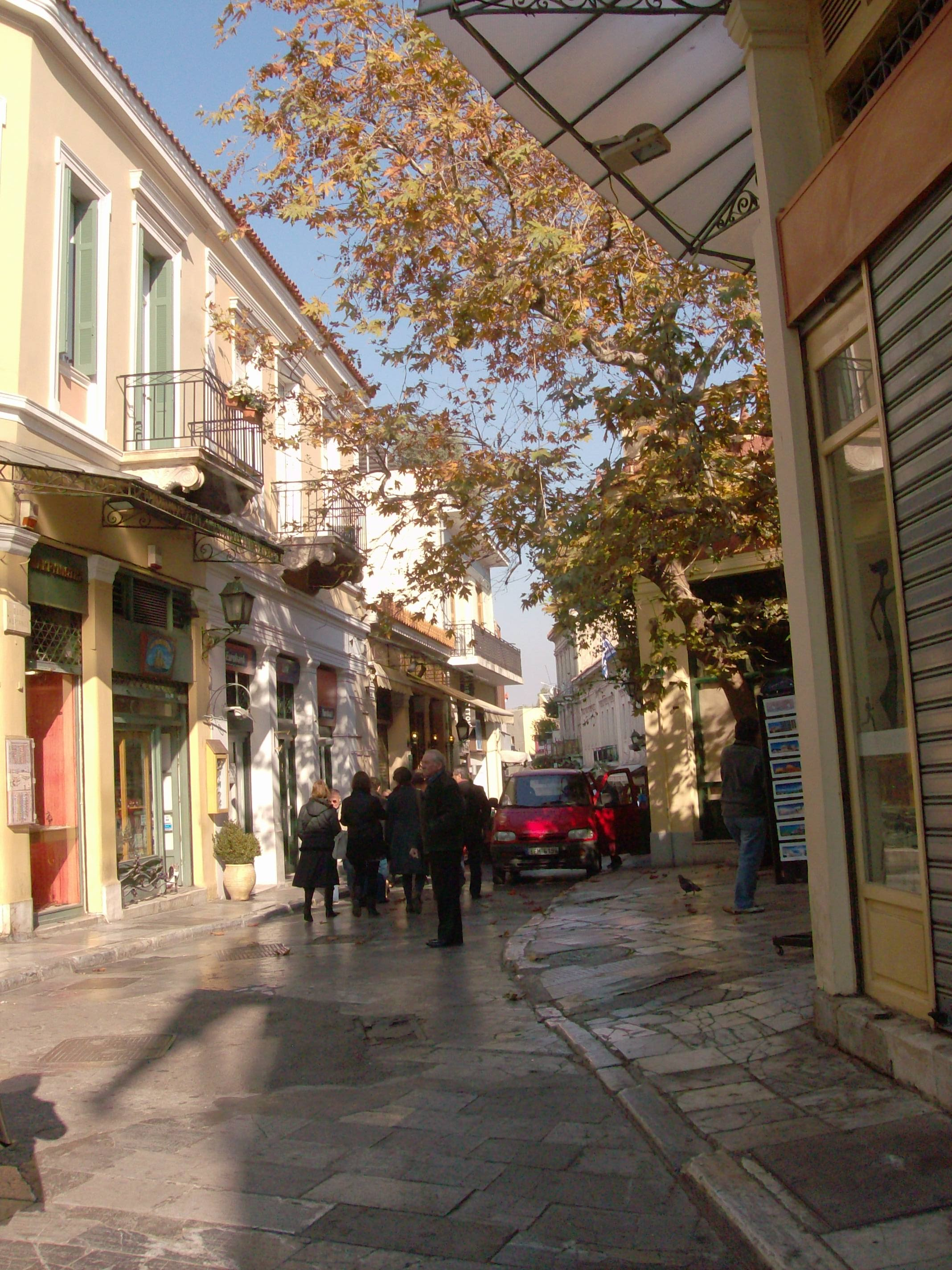 Beautiful Street in Athens Greece