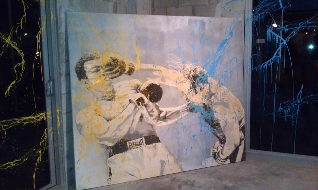 Boxer Painting Mr. Brainwash Art Basel Miami Beach 2011