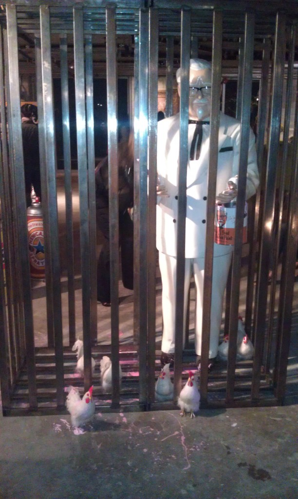 Colonel Sanders in a Cage