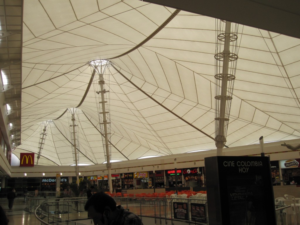 Inside the Centro Mayor Mall in Bogota