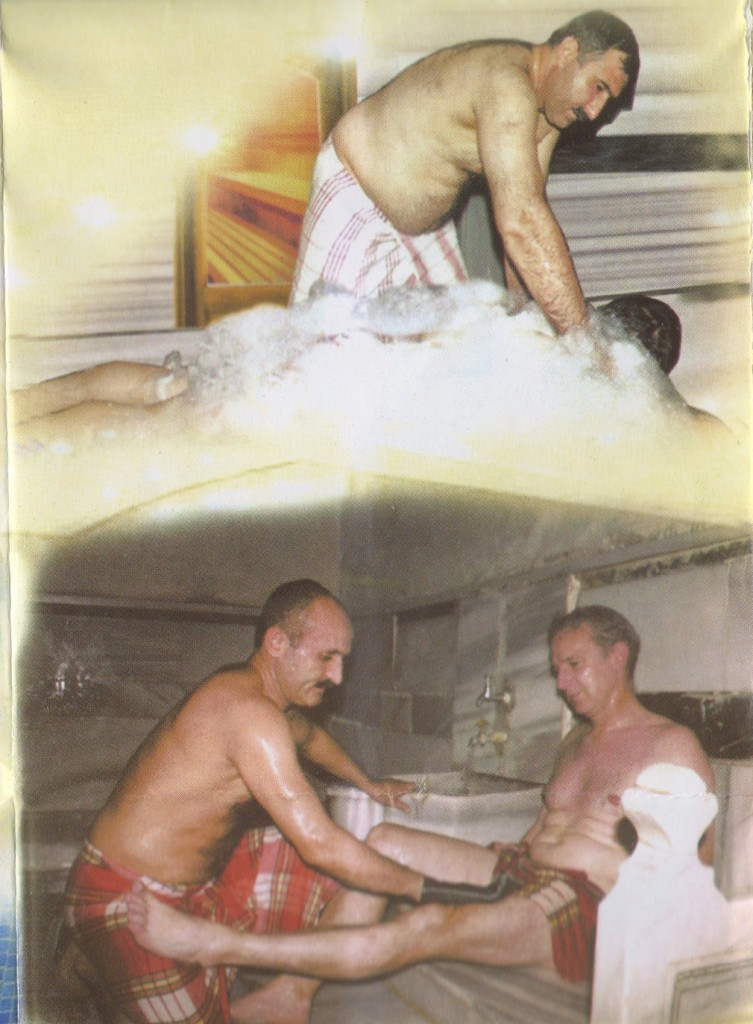 massage at a Turkish Bath House