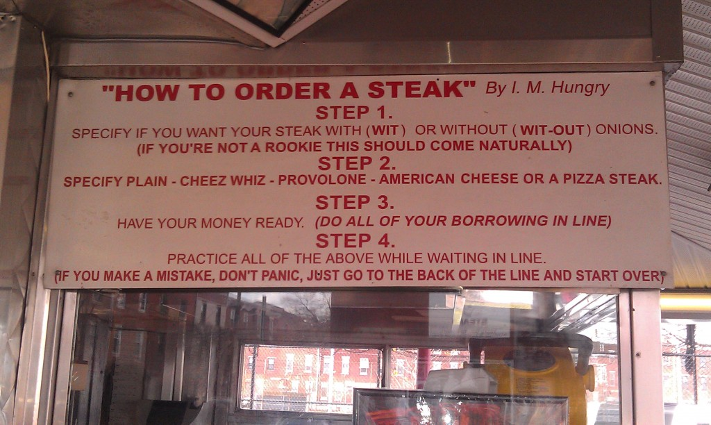 How to Order a Cheese Steak in Philadelphia
