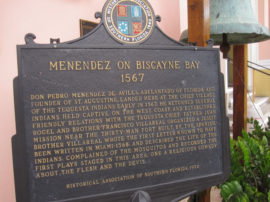 Spanish colonization of Miami Plaque
