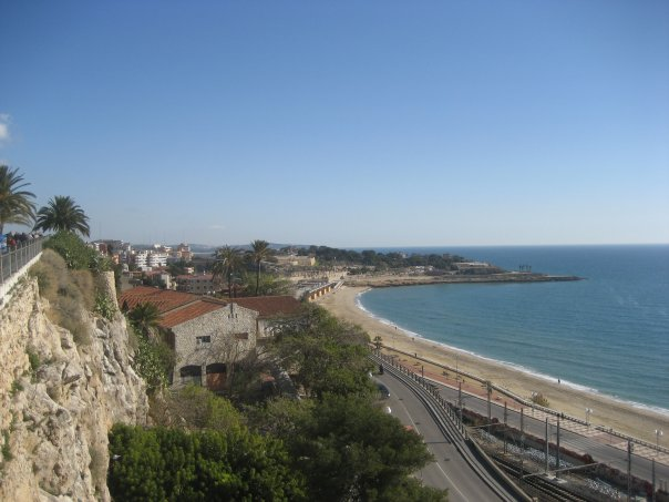 View of the coast in Tarragona, Spain
