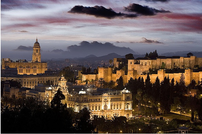 The Alcazaba Of Malaga Spain