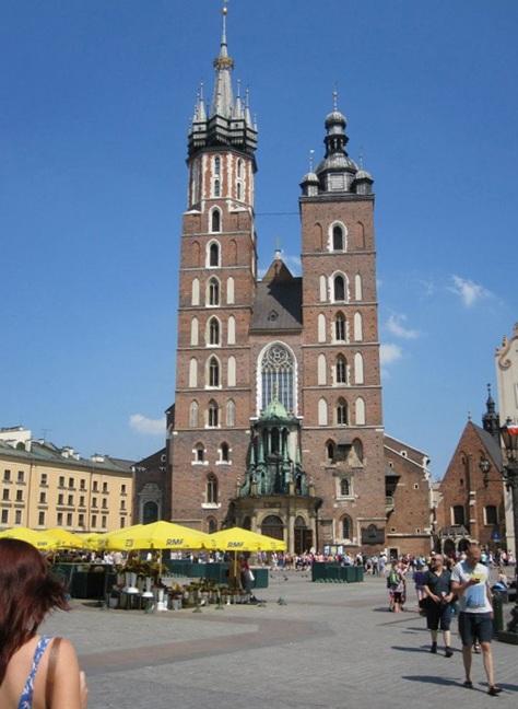 The central plaza in Krakow, Poland