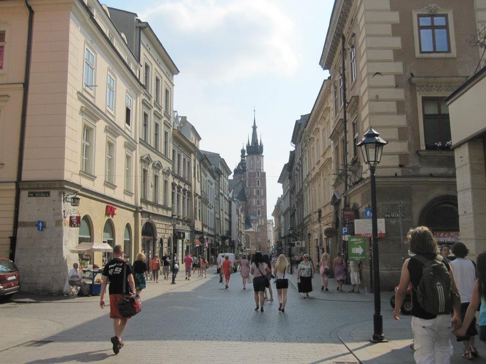 The city center of Krakow