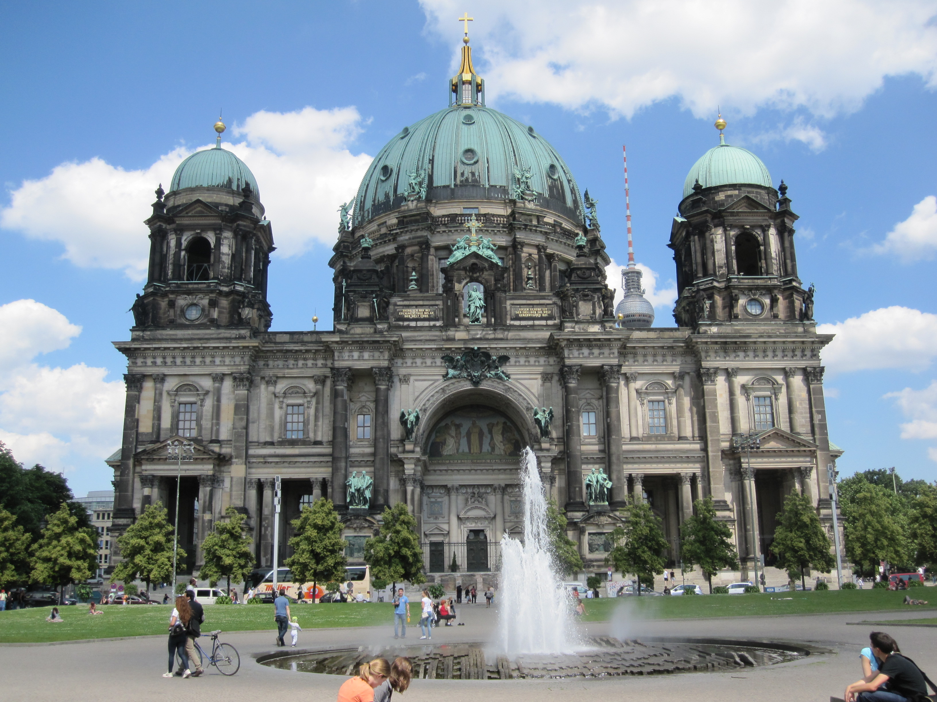 exterior of Berlin Cathedral on a sunny day