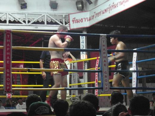 White Muay Thai Boxer