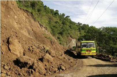 Bad roads in the Philippines