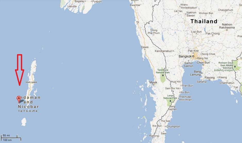 Sentinel Island Location