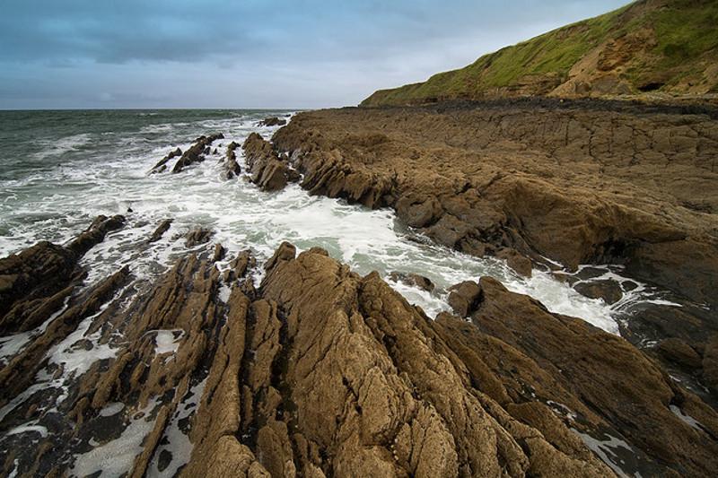 Coast in Croyde, Devon England