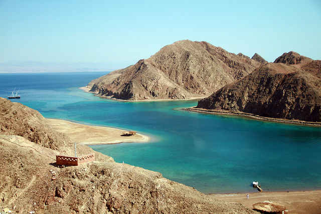 Fjord in Taba, Egypt