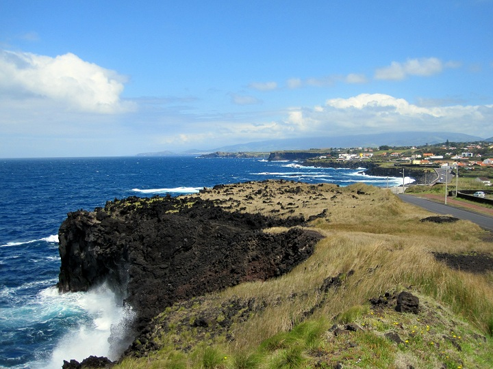volcanic coastline in the azores