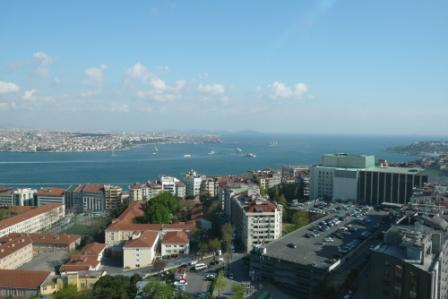 Rooftop view in Istanbul