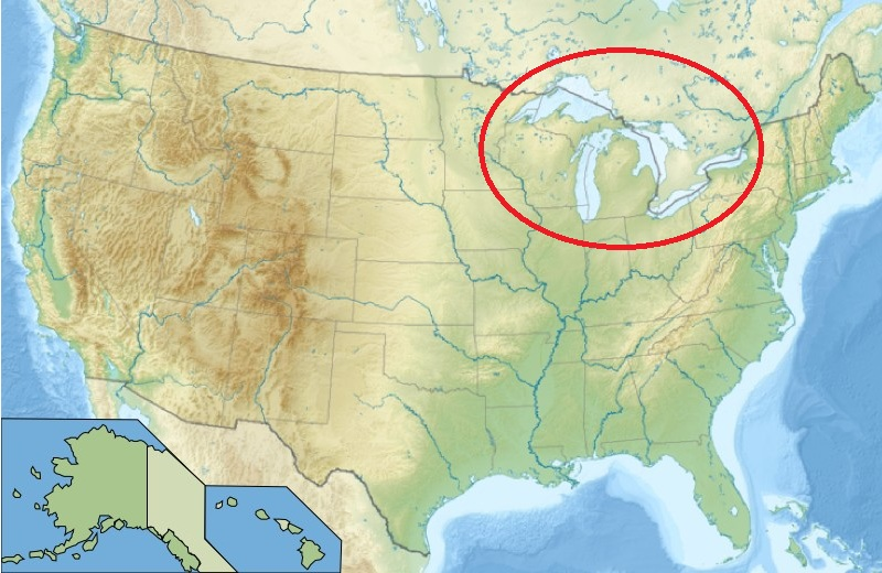 The Great Lakes Of North America - Great-lakes-on-the-us-map
