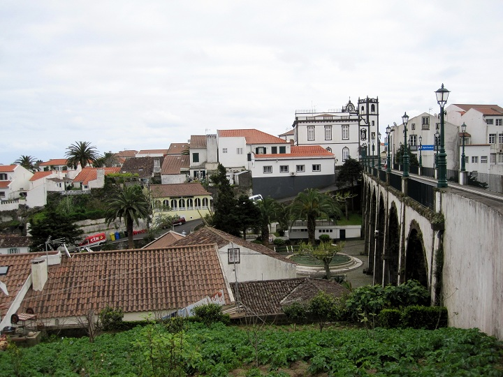 nordeste bridge and town, azores