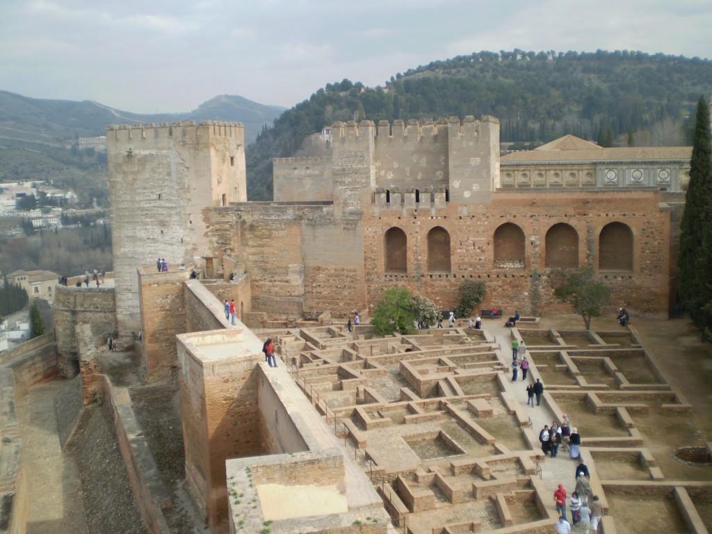 interior view of the Alahambra in Granada, Spain