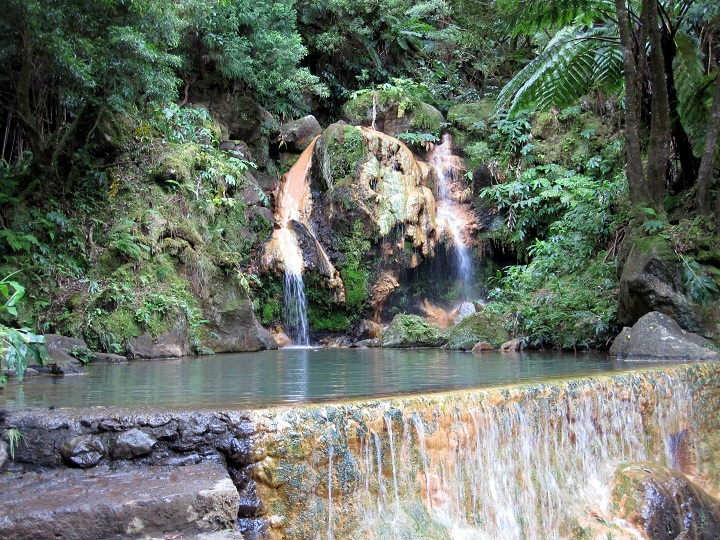 hot springs on Sao Miguel, Azores