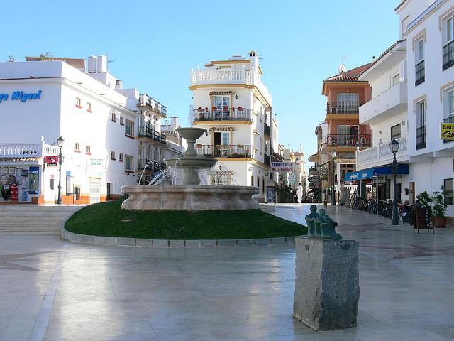 Plaza in Torremolinos, Spain