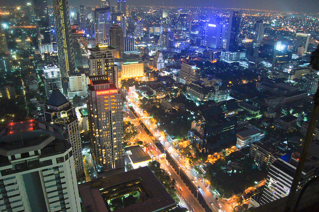 bangkok cityscape, by evoflash