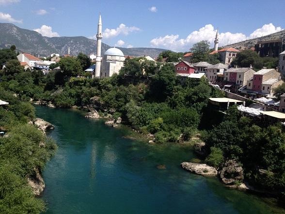 minarets in Mostar