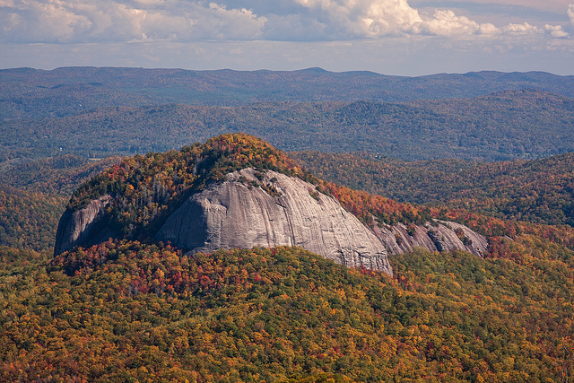 looking glass rock in North Carolina.