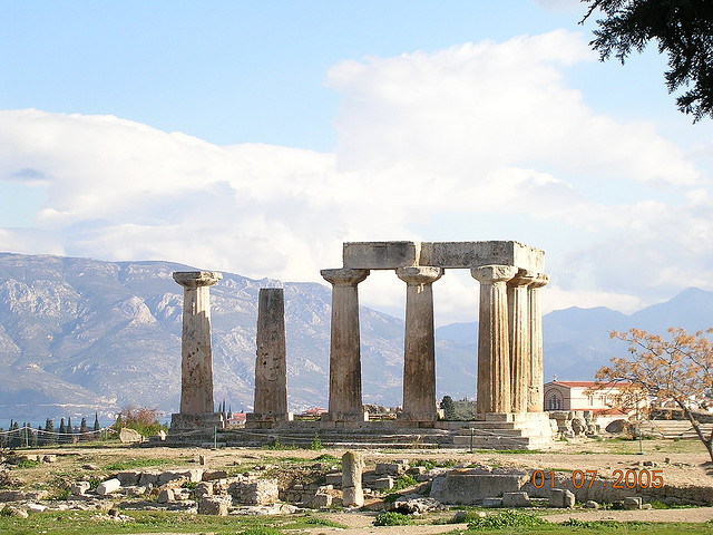 Temple on a sunday day in Greece