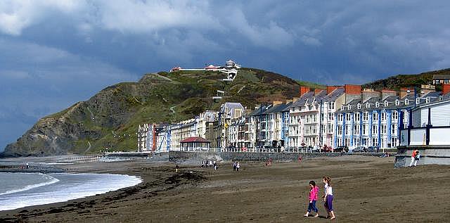 coastline in Aberystwyth, Wales