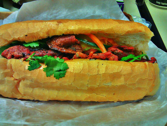 bahn mi sandwich in ho chi minh city