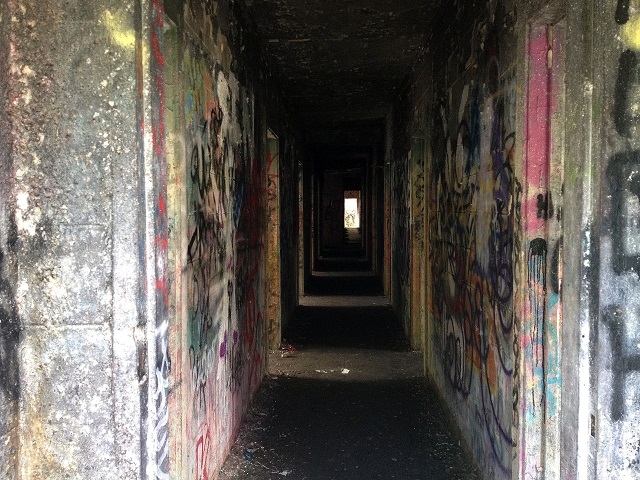 inside abondoned army base in Miami