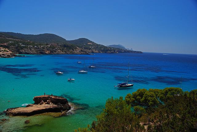 scenery in Ibiza