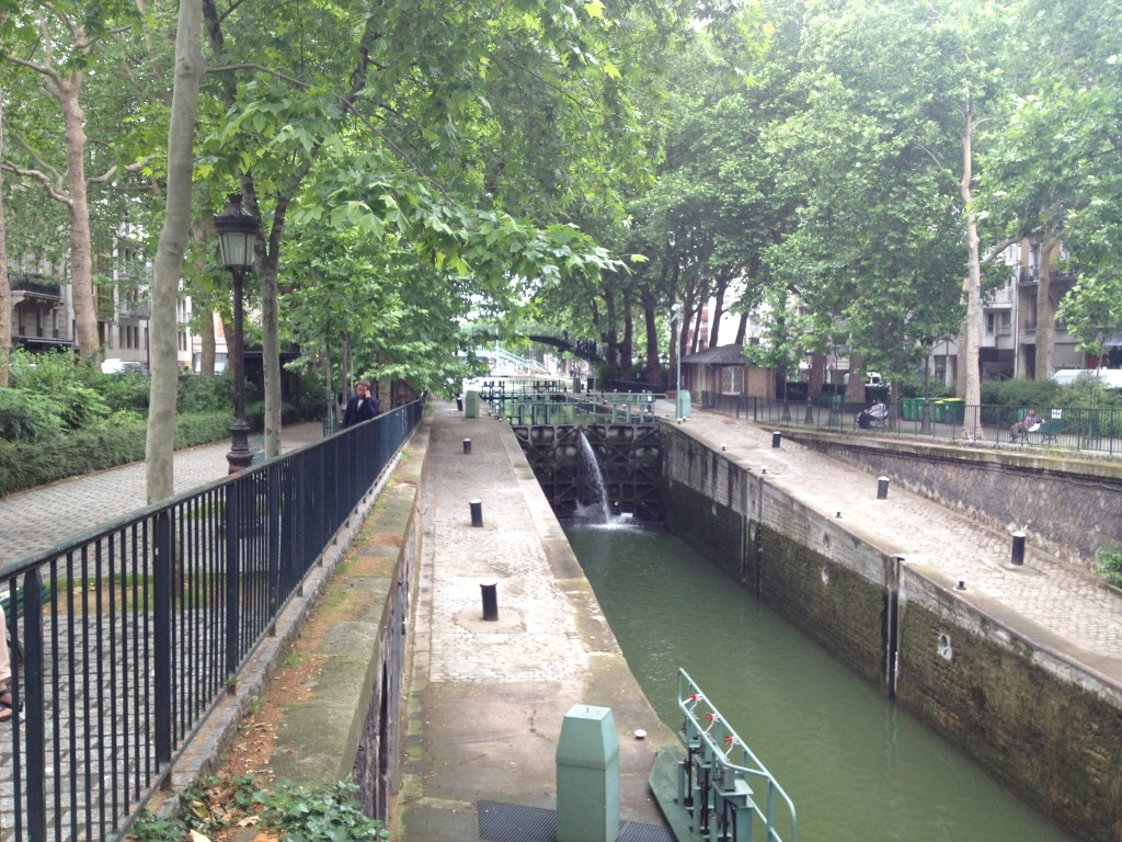 waterways in paris, france