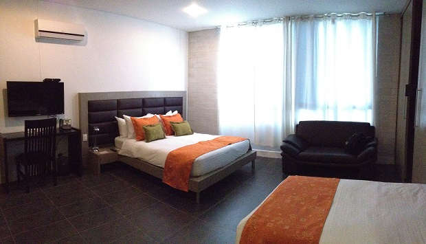 inside room at Hotel Le Parc, Medellin