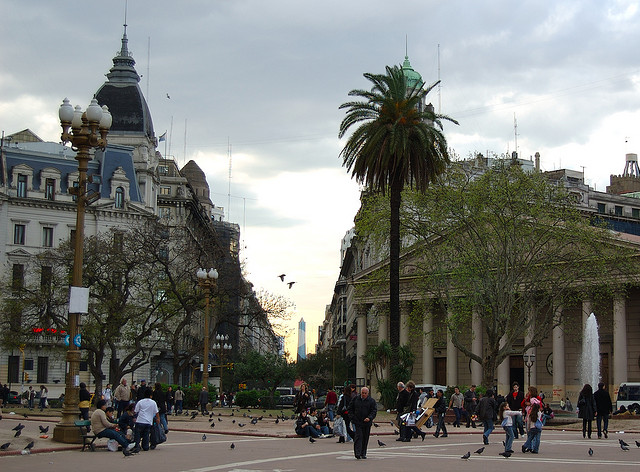 Plaza de Mayo, a beautiful place with the capital city of Argentina, Buenos Aires...