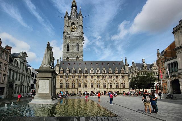 square in Ghent, Belgium