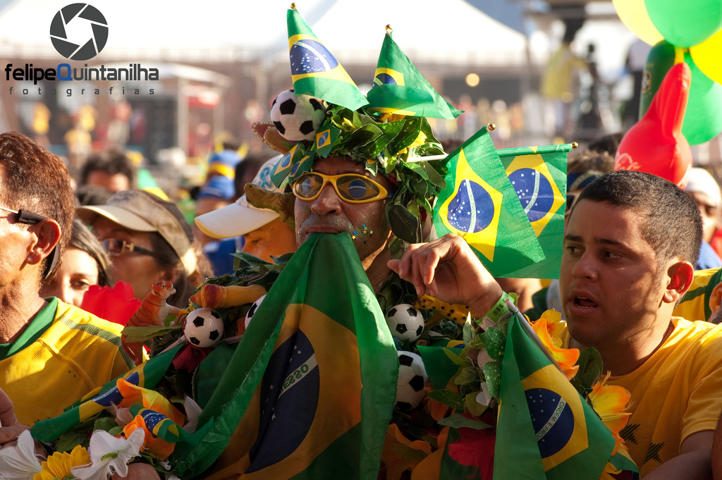 football fans in Brazil