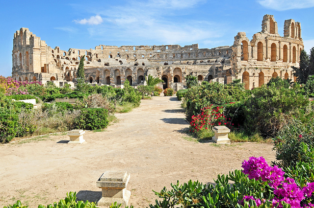 roman ampitheater in Tunisia