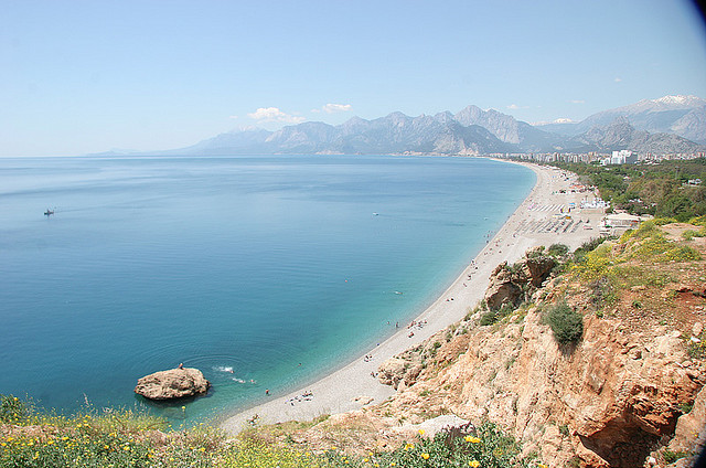 View of the beach in Antalya