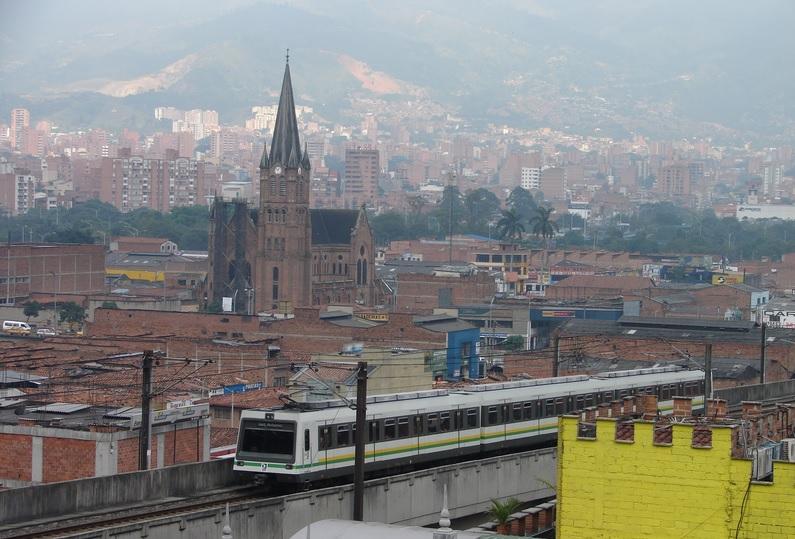 Metro de Medellin, in Antioquia, Colombia
