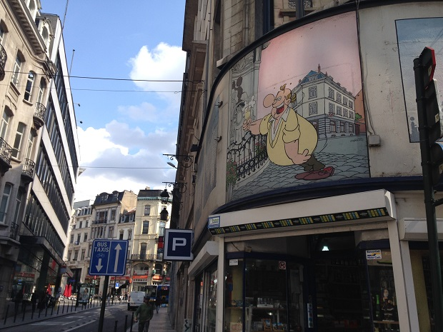 comic mural in brussels