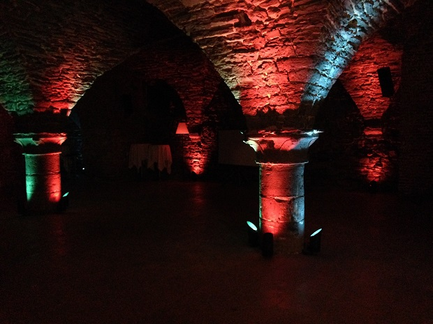 medieval basement at the NH Hotel Belfort Ghent Belgium
