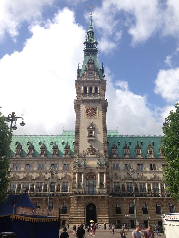 tower of Hamburg city hall