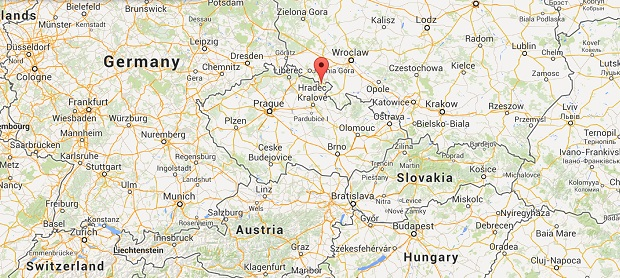 location of the Ardspach Teplice rocks in the Czech Republic